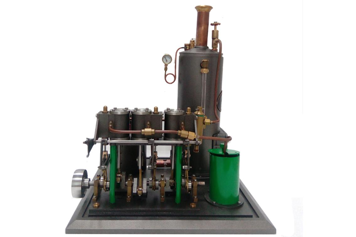 Three Cylinders Steam Engine